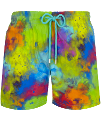 Men Stretch classic Printed - Men Stretch Swim Trunks Holi Party, Batik blue front