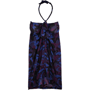 Women Others Printed - Camouflage Turtles Skirt Pareo, Plum front