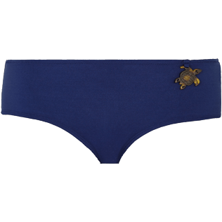 Women Shorty Printed - Women Bikini Bottom Shortie Brief Turtles Stars, Navy front