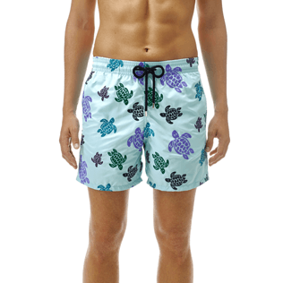 Homme Classique Moorea Brodé - Maillot de bain Mistral Broderie Tortues Multicolores All Over, Lagon supp2