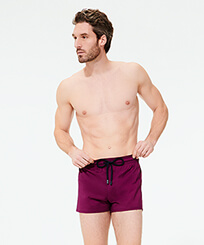 Men Short classic Solid - Men Swimwear Short and Fitted Stretch Solid, Kerala frontworn