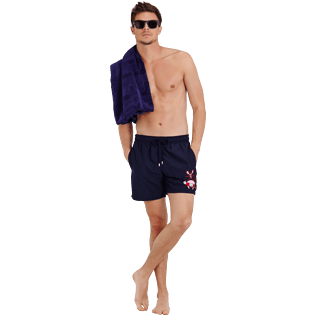Men Classic Embroidered - Men Swimtrunks Placed embroidery The Year Of The Rat, Navy supp2