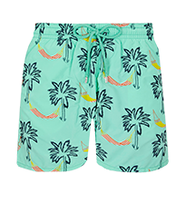 Men 017 Embroidered - Men Embroidered Swimwear Ibiza - Limited Edition, Mint front