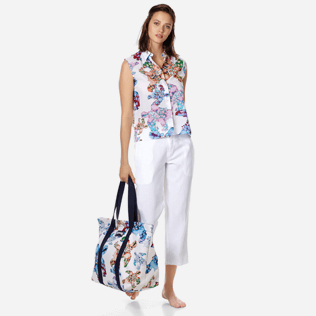 Donna Altri Stampato - Camicia donna in velo di cotone Watercolor Turtles, Bianco supp2