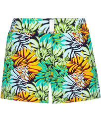 Women Others Printed - Women Swim Short Jungle, Midnight blue front