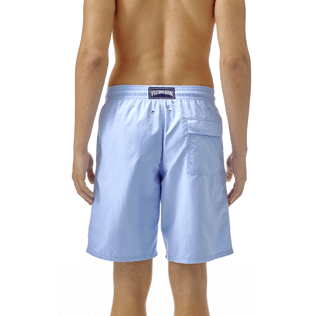 Men Long classic Solid - Solid Long Cut Swim shorts, Sky blue supp3