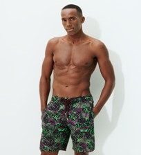 Men Long classic Printed - Men Long Stretch Swimwear Madrague, Grass green frontworn
