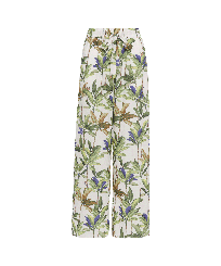 Women Others Printed - Women Cotton Pants Palms, White front