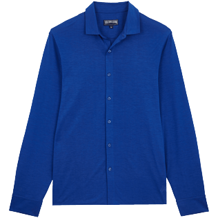Men Others Solid - Jersey Tencel Men Shirt Solid, Royal blue front