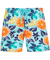 Boys Others Printed - Boys Swim Trunks Stretch 1994 Presse-Citron, Lagoon front