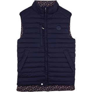 007 Printed - Sleeveless Doudoune Micro ronde des tortues, Navy front