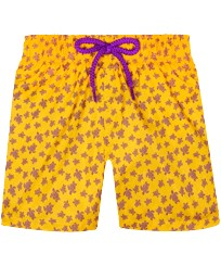 Boys Others Printed - Boys Ultra-light and packable Swim Trunks Micro Ronde des Tortues, Curry front