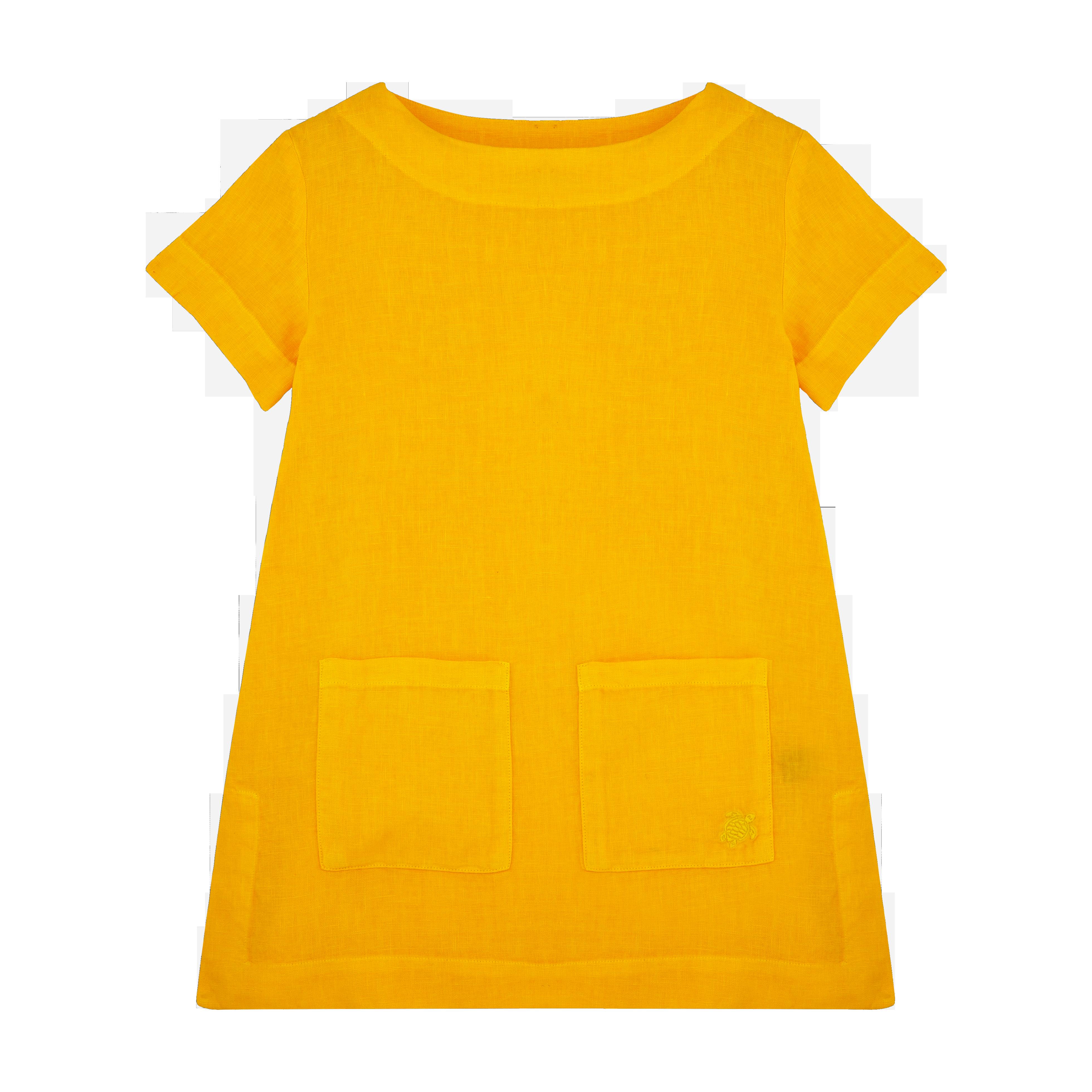 VILEBREQUIN | Girls Ready to Wear - Girls Linen Dress Solid - DRESS - GELATINE - Orange - 14 - Vilebrequin | Goxip