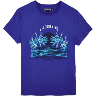 Men Others Printed - Men Cotton T-shirt Vilebreking, Neptune blue front