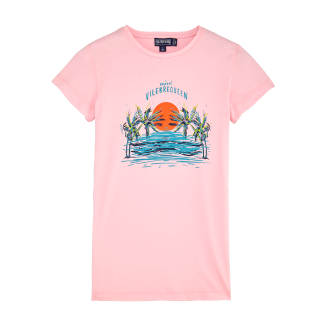 Vilebrequin - Robe T-shirt Fille en Coton Mini Vilebrequeen - 1