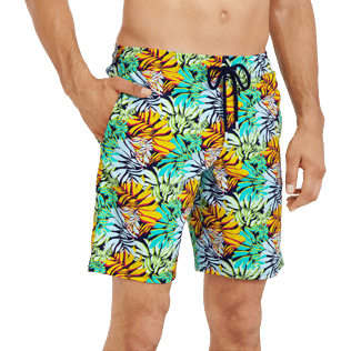 Men Long classic Printed - Men Swimwear Long Stretch Jungle, Midnight blue supp1