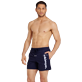 Men Classic Embroidered - Men Swim Trunks Placed Embroidery Le Vilebrequin, Navy frontworn