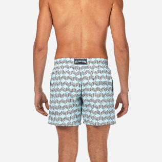 Men Classic Printed - Fishes Cube Swim shorts, Azure supp2