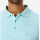 Men Others Solid - Men Terry Cloth Polo Shirt Solid, Aquamarine supp1