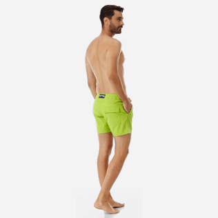 Men Flat belts Solid - Men Flat Belt Stretch swimtrunks Solid, Cactus backworn