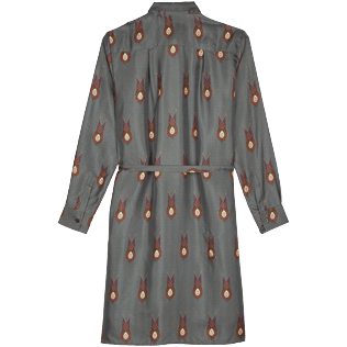 Women Others Printed - Women Silk Dress Paon Paon, Navy back