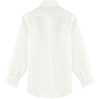 Boys Others Solid - Solid Linen Classic shirt, White back