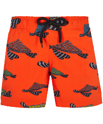 男童 Others 印制 - Boys Swimwear Stretch Turtle Swim, Medlar front