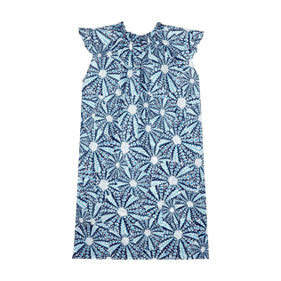 Girls Others Printed - Girls Cotton Voile Dress Oursinade, Navy back