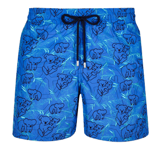 Men Embroidered Embroidered - Men Embroidered Swimwear Sydney - Limited Edition, Sea blue front