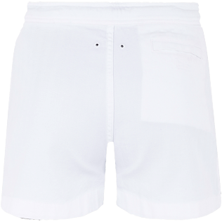 Men Others Solid - Men White 70s Shorts, White back