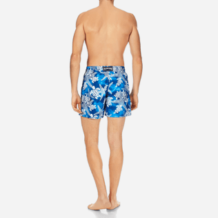 Men Classic Printed - Men Swimtrunks Starlettes & Turtles Vintage, Neptune blue backworn