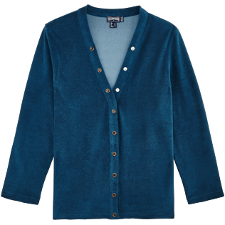 Women 009 Solid - Women Terry Cloth Cardigan Sweaters Solid, Spray front
