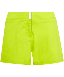 Women Others Solid - Women Stretch swim short Solid, Lemongrass front