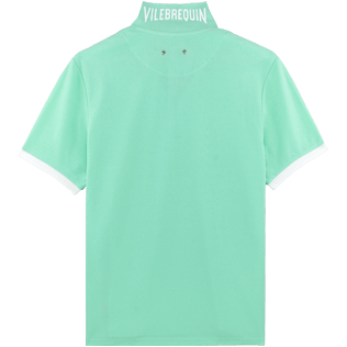 Men Others Solid - Men Cotton Pique Polo Shirt Solid, Mint back