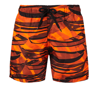 Boys Others Printed - Boys Ultra-Light and packable swimtrunks Comporta, Neon orange front