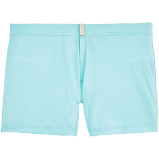 Men Short Solid - Jacquard V71 Swim Shorts, Lagoon front