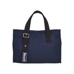 Bags Solid - Small Solid Cotton beach bag, Navy front