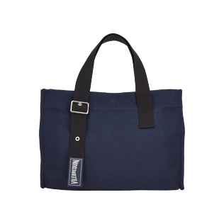 Bags Solid - Small Cotton Beach bag Solid, Navy front