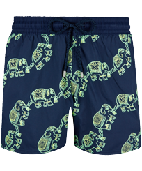 Men Stretch classic Magic - Men Swimwear Stretch Elephant Dance Glow in the dark, Navy front