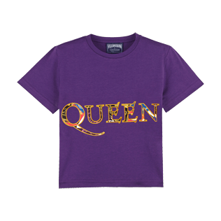 Boys Others Printed - Boys Cotton T-Shirt Queen Tour, Reddish purple front