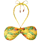 Women Bandeau Printed - Women Bandeau Bikini Top Go Bananas, Curry front