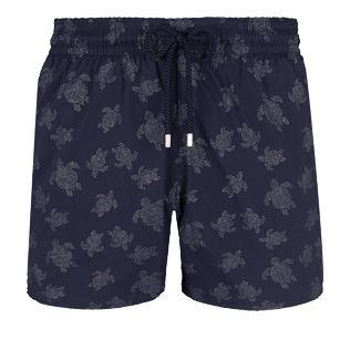Men Stretch classic Printed - Men Swimtrunks Stretch Diamond Turtles, Navy front