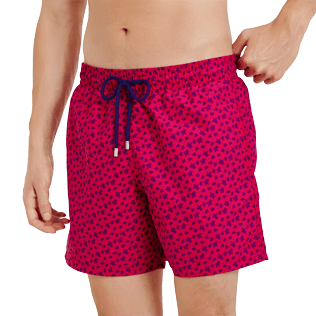 Men Classic Printed - Men Swim Trunks Micro ronde des tortues, Gooseberry red supp1