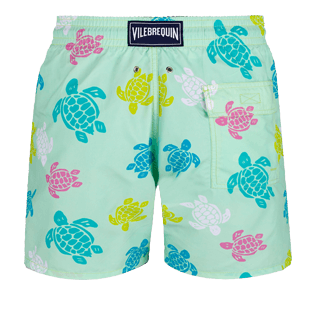 Men Classic Printed - Men Swimwear Ronde des tortues, Seaweed back