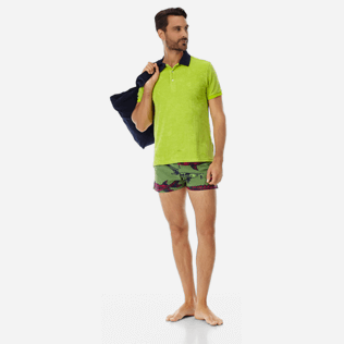 Men Short classic Printed - Men short and fitted stretch swimtrunks Belle ou Gars, Cactus supp2
