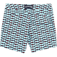 Uomini Aderente ed elasticizzato Stampato - Fish Net Fitted cut Swim shorts, Bleu givre back