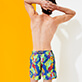 Men Classic Printed - Men Swimwear Les Geckos, Batik blue supp7