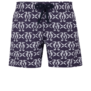 Boys Others Printed - Boys Swimtrunks Hippocampes, Midnight blue front