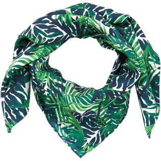 046 Printed - Madrague Scarf in Silk Twill, White back