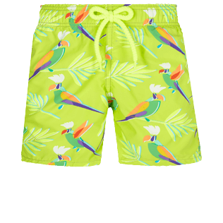 Boys Others Printed - Boys Swimwear Multicolore Parrots, Lemongrass front